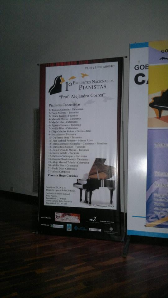 1er. Encuentro Nacional de Pianistas (Catamarca, agosto de 2013)